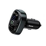 ФМ модулятор BASEUS T typed with Bluetooth FM S-09 |2USB, 2.4A/1A| Black, фото 4