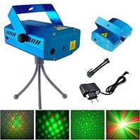 Лазерный проектор с рисунком 4 в 1 HJ08, стробоскоп, лазер шоу дискотека, фото 1