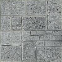 3Д панелі декоративні самоклеючі для стін Сірий камінь