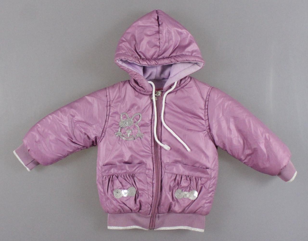 {есть:2 года} Куртка на флисе для девочек,  Артикул: N8797-сирень [2 года]
