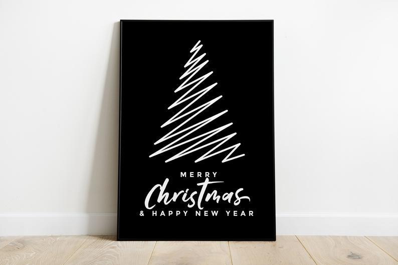 Новорічний плакат Merry Christmas Sign формат А3