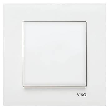 Вимикач одинарний VIKO KARRE білий (90960001)