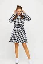 Платье мини в клеточку с юбкой полусолнце KR-рондо, фото 2