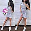 Платье короткое летнее с капюшоном и карманами, фото 5