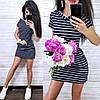 Платье короткое летнее с капюшоном и карманами, фото 3