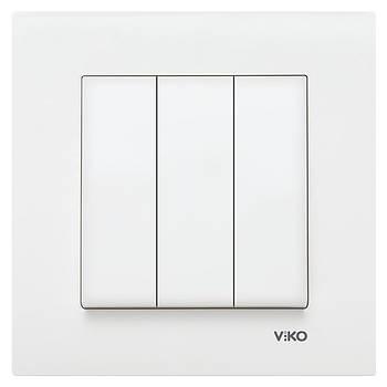 Вимикач потрійний VIKO KARRE білий (90960068)