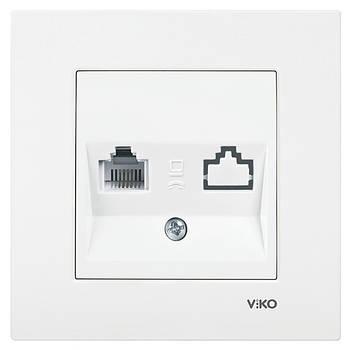 Розетка телефонна одинарна VIKO KARRE біла (90960013)