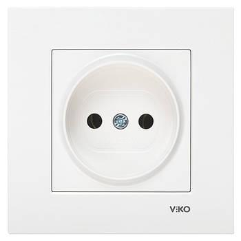 Розетка одинарна VIKO KARRE без заземлення біла (90960007)