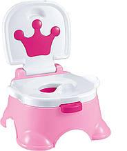"""Горшок музыкальный детский """"Королевский"""" Baby Potty 68011 (025) Розовый"""