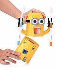 Дозатор зубной пасты детский Миньон с держателем для зубных щеток, фото 4
