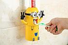 Дозатор зубной пасты детский Миньон с держателем для зубных щеток, фото 5