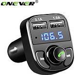 FM-трансмиттер Onever X8 Black Bluetooth, фото 2
