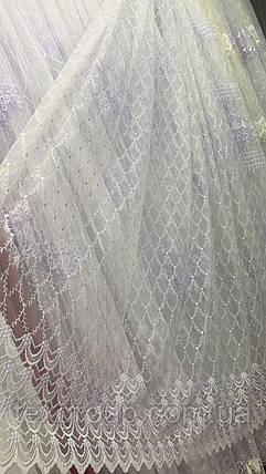 Фатиновая тюль 1201 белого цвета, фото 2