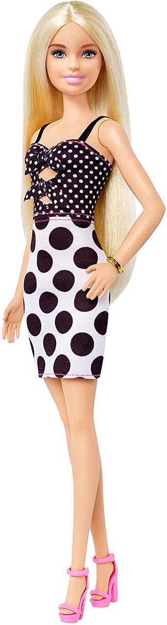 Кукла Барби Модница 134 блондинка платье в горошек Barbie Fashionistas 134 пром
