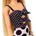 Кукла Барби Модница 134 блондинка платье в горошек Barbie Fashionistas 134 пром, фото 4
