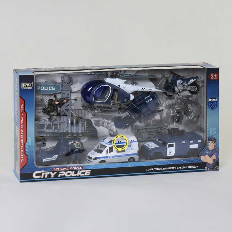 Набор полицейской техники 8832 (12) световые и звуковые эффекты, в коробке