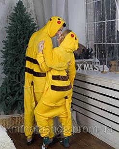 Кигуруми (пижама) Покемон Пикачу S,M,L,XL- кігурумі піжама Пікачу