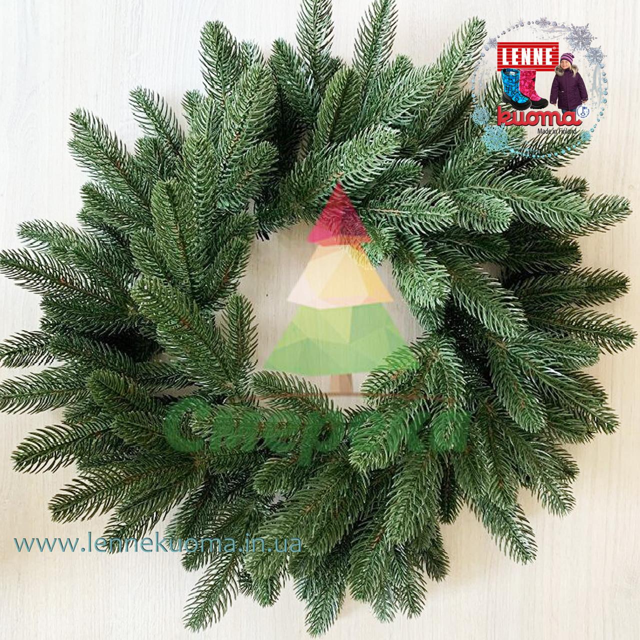 Венок рождественский Премиум зеленый