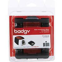Картридж для принтера Badgy 100/200 (монохромная лента на 500 отпечатков, без карточек) (CBGR0500K)