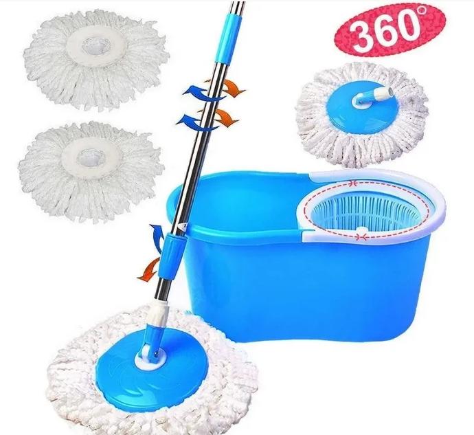 Швабра с ведром Spin Mop 360   Швабра с отжимом и ведром