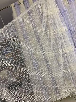 Фатиновая тюль 335 кремового цвета, фото 2