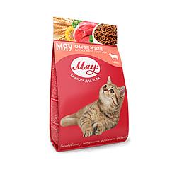 Корм Мяу повнорацiонний смачне м'ясце для дорослих котів 300 г