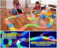 Magic Track 220 деталей PCS Машинка с подсветкой 3Led, детская трасса дорога с машинкой детский автотрек