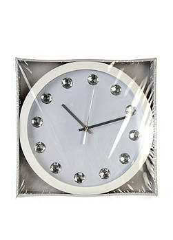 Белые настенные часы с камнями Edeka
