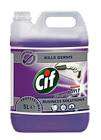 Cif Prof 2in1. Засіб для миття та дезінфекції будь-яких поверхонь, (концентрат) 5л (2шт/ящ)