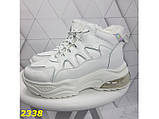 Зимние кроссовки белые на амортизаторах компенсаторах К2338, фото 5