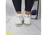 Зимние кроссовки белые на амортизаторах компенсаторах К2338, фото 6