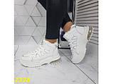 Зимние кроссовки белые на амортизаторах компенсаторах К2338, фото 2