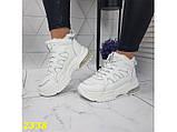 Зимние кроссовки белые на амортизаторах компенсаторах К2338, фото 3