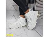 Зимние кроссовки белые на амортизаторах компенсаторах К2338, фото 4