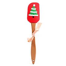 Силиконовая лопатка для кухни новогодняя Снеговик, фото 2