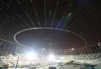 На Олимпийском подняли вантовую систему
