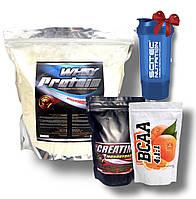 2 кг Сывороточного протеина + креатин + BCAA шейкер в подарок