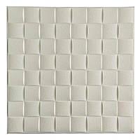 Стінова 3D панель Шпалери декоративні Самоклейка 3Д Білий обкладинка 8мм