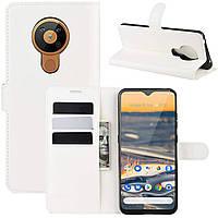 Чехол-книжка Litchie Wallet для Nokia 5.3 White