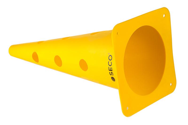 Тренировочный конус с отверстиями SECO 48 см цвет: желтый