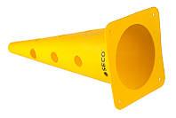 Тренировочный конус с отверстиями SECO 48 см цвет: желтый , фото 1