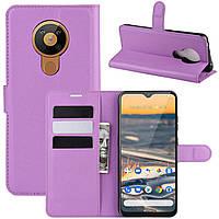 Чехол-книжка Litchie Wallet для Nokia 5.3 Violet