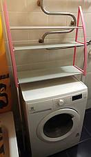 Стелаж для зберігання у ванну, Полиця для ванної кімнати, Компактна полиця для вбиральні, фото 3