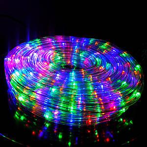 Светодиодная Гирлянда Дюралайт Уличная 20 м Мультицвет RGB с Переходником 220V