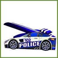 Кровать машина (ліжко дитяче) серия Элит Полиция синяя