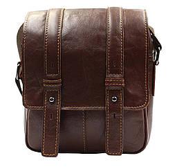 Мужская кожаная сумка PRE1540-1D коричневая