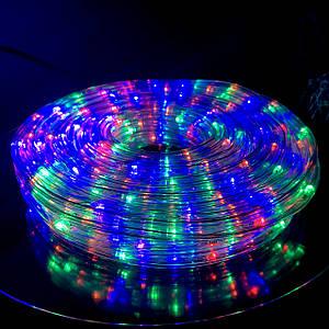 Шланг Светодиодный Дюралайт Мультицвет RGB, 20 м, с Переходником 220V