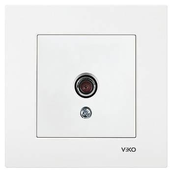 Розетка телевізійна одинарна VIKO KARRE біла (90960049)