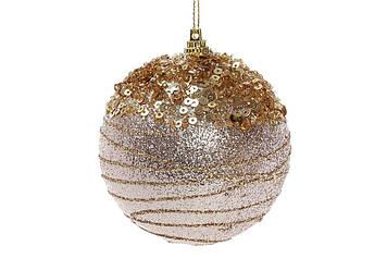 Куля пласт. 8см,шампань з золотом №182-905/Bonadi/(1)(16)