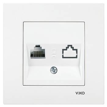 Розетка комп'ютерна одинарна VIKO KARRE біла (90960032)
